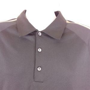 Nike Fit Dry XL Golf/Polo Shirt S/S Black Brown